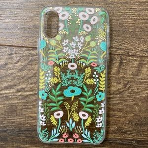 iPhone X Rifle Paper Company Floral Tapestry Case